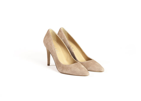 Nude Suede Heels—Only one pair left!