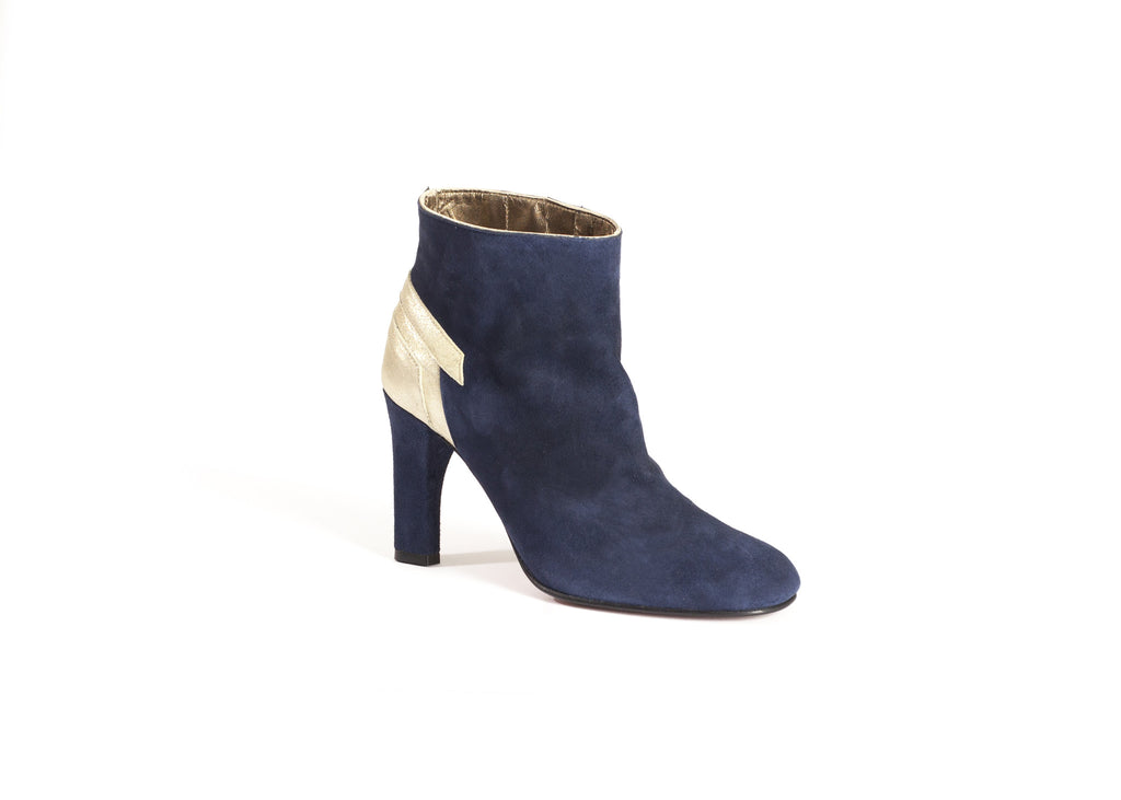 Navy blue Suede Ankle Boots