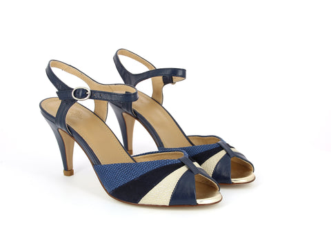 Navy and Cream Heels—ONLY ONE PAIR LEFT!
