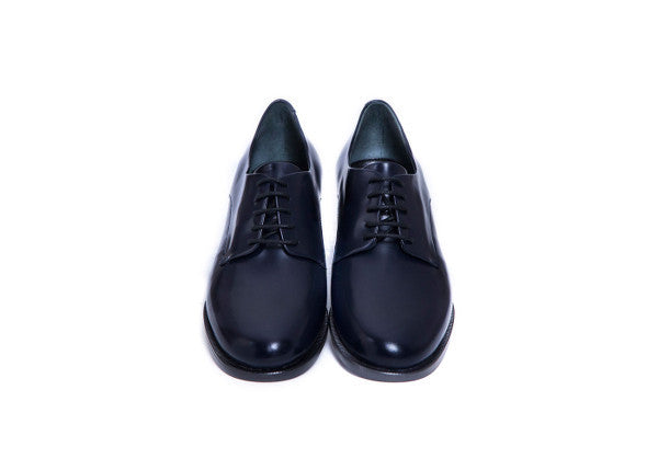 Navy Blue Leather Brogues