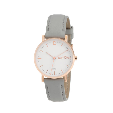 L'AUDACIEUSE: ROSE GOLD WITH GREY STRAP