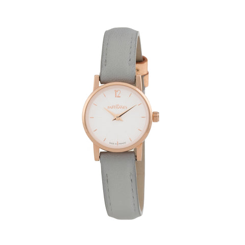 L'INSOUCIANTE ROSE GOLD WITH GREY STRAP
