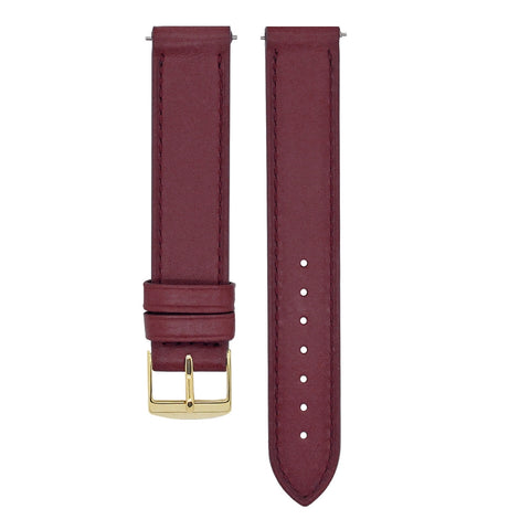L'AUDACIEUSE STRAP: BURGUNDY LEATHER