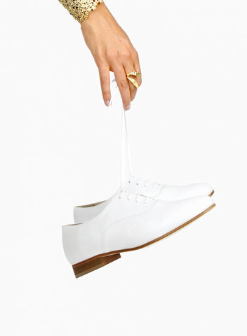 White Leather Brogues