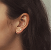 DISC STUD EARRINGS (SILVER)