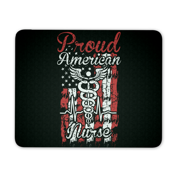 Nurse Mousepad | Proud American Nurse