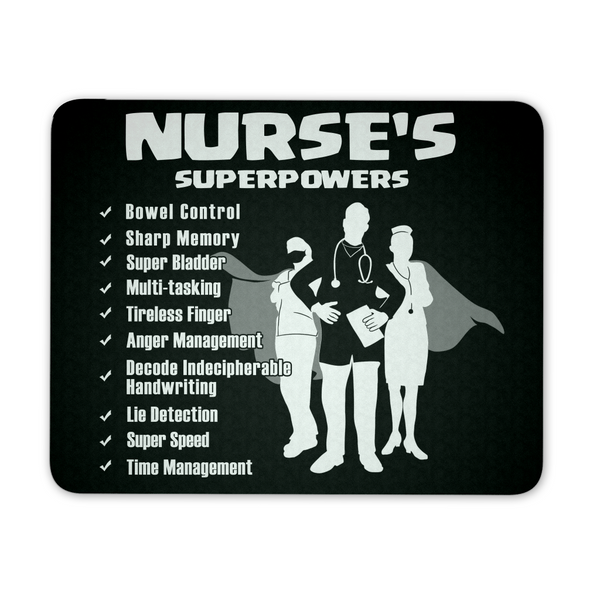 Nurse Mousepad | Nurse's Superpowers