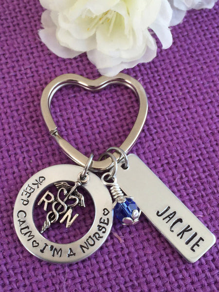 Nurse Keychain (Personalized) | For Good Fortune, Hope, and Wisdom