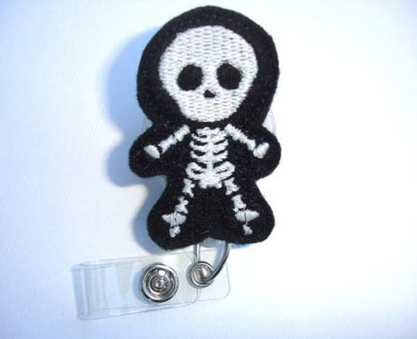 Radiology Handmade Badge Reel | Skeleton