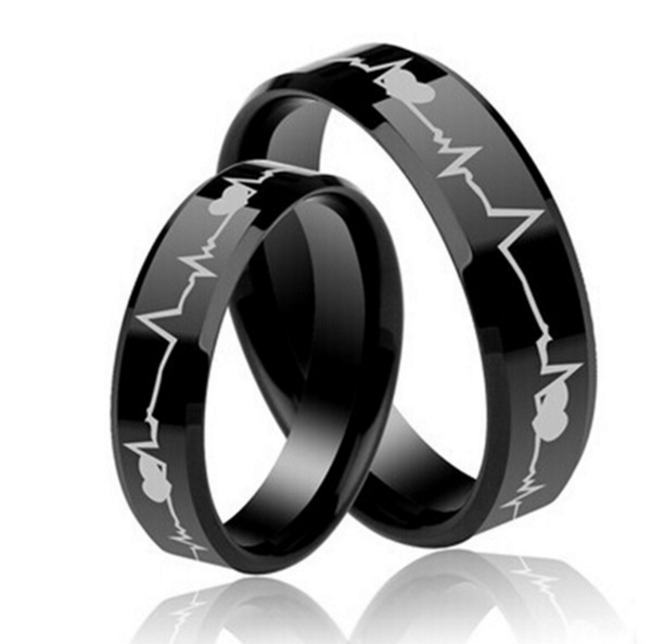 Health Professsional Tungsten Ring | Heart Beat