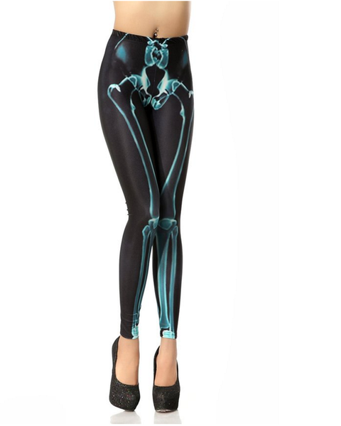 Anatomy Leggings | Bone(Green)