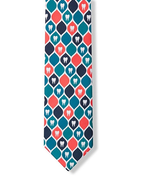 Dental Hygienist Necktie | Tooth Pattern