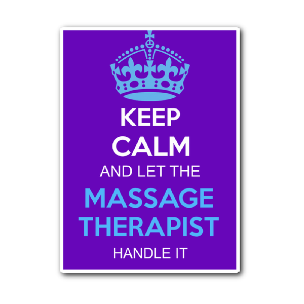 Massage Therapist Decal | Keep Calm And Let The Massage Therapist Handle It (Purple)
