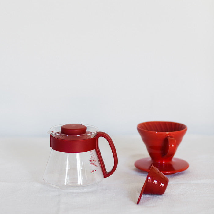 Hario V60 pour over kit ceramic red 01 - Gardelli Specialty Coffees