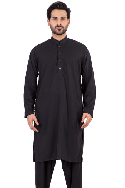 Black Embroidered  Shalwar Kameez SKE-111