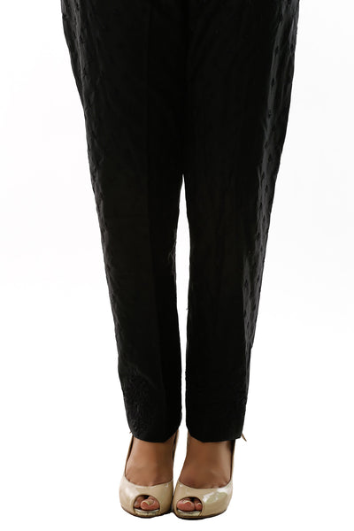 Black Lawn Embroidered Trouser TR-15-028