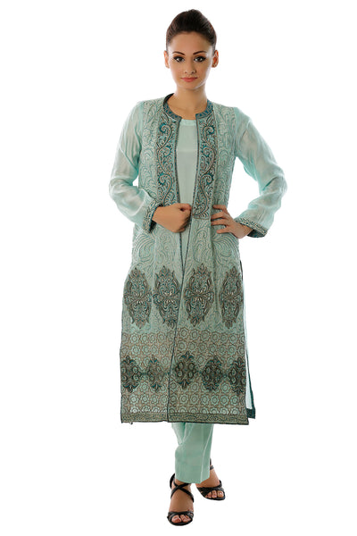 Mint Embroidered Dress 2 Pc GP-15-019