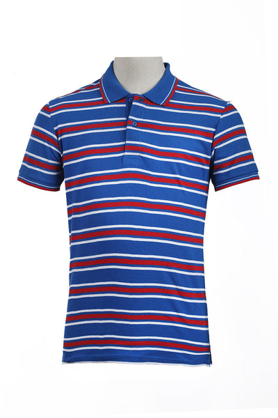 Blue Double Tuck Polo Shirt - PKP-YD-D45-01