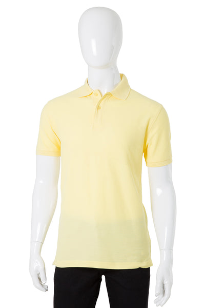 Yellow Double Tuck Pique Signature Polo Shirt PKP-SIG-10