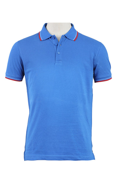 Blue Double Tuck Polo Shirt - PKP-SPR-10