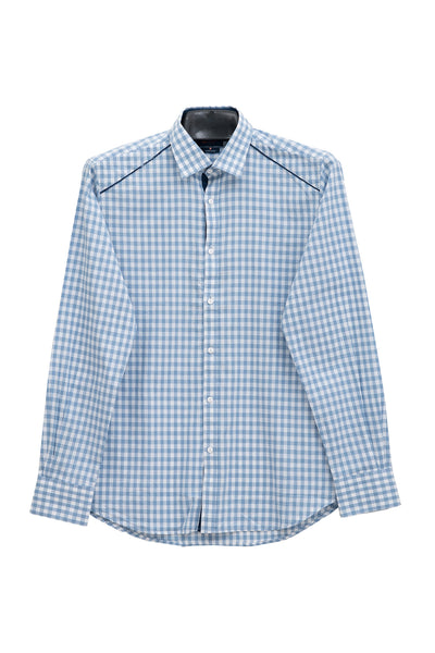Blue Checked GA Sport Casual Shirt CM-YD-1730