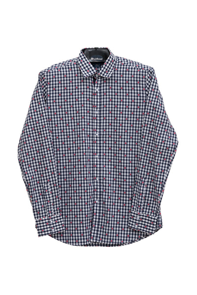 Blue Checked GA Sport Casual Shirt CM-YD-1734