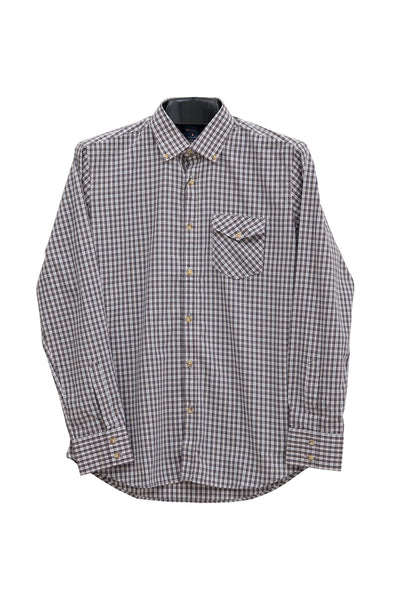 Grey Checked GA Sport Casual Shirt CM-YD-1735