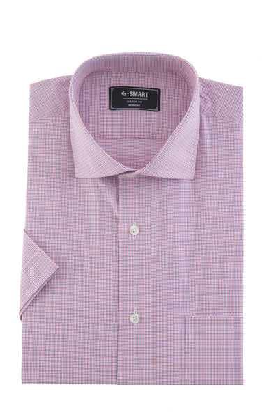 Purple Formal Half Sleeves Shirt CM-YD-1781