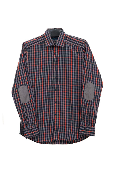Blue & Orange Checked GA Sport Casual Shirt CM-YD-1763