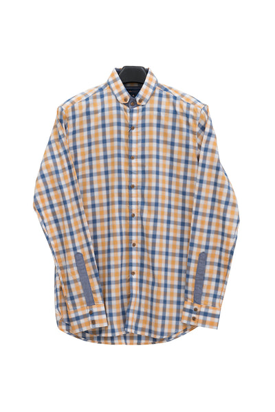 Blue & Yellow Checked GA Sport Casual Shirt CM-YD-1764