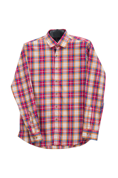 Red Checkered GA Sport Casual Shirt CM-YD-1765