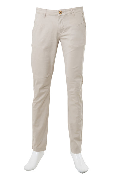 Beige Aviator Slim Fit Khakis AVT-01