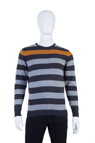 Brown Crew Neck Fashion Sweater FS-SWT-FD51-1