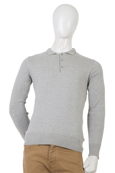 Grey Polo Sweater FS-SWT-FD49-1