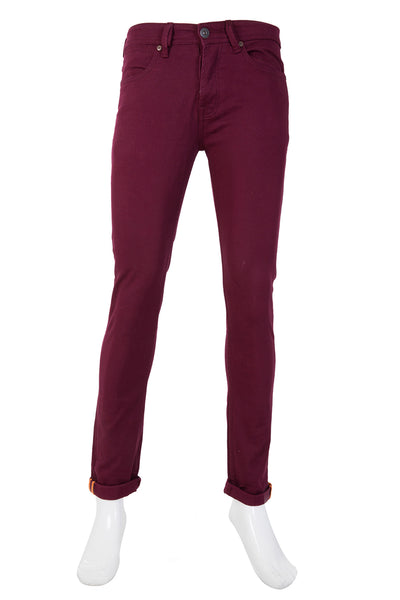 Burgundy Color Denim Basic NDJ-10