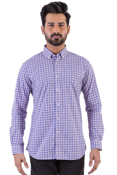 Blue Check Casual Shirt CM-YD-1830