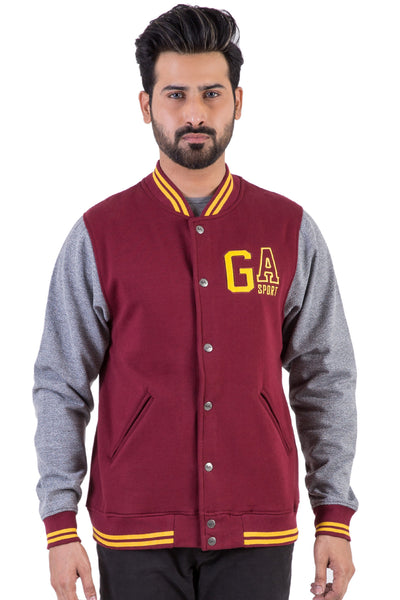 Maroon Base Ball Jacket JKT-MNB-D08-2