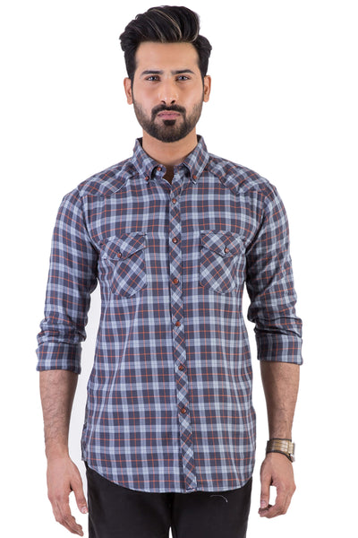 Blue Check Casual Shirt CM-YD-1889