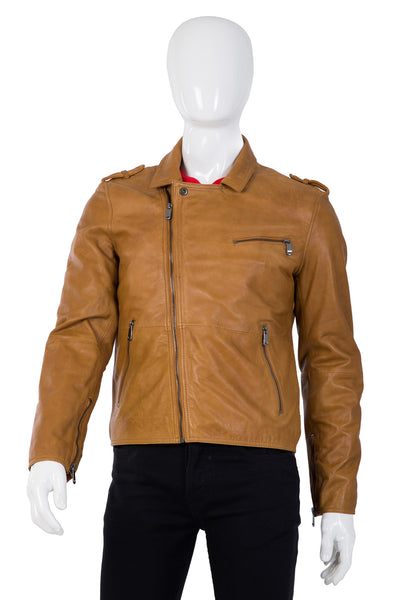 Brown Leather Jacket JKT-005