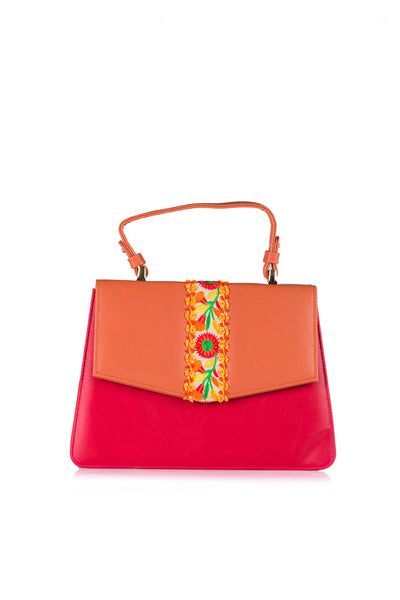 Orange Hand Bag AWB16-49