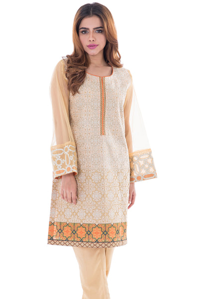 Golden Embroidered 2-Pc Dress GLAMOUR-16-25