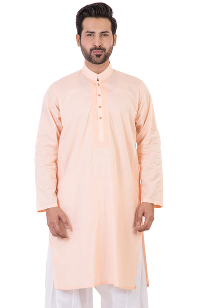 Peach Embroidered Kurta KE-1170