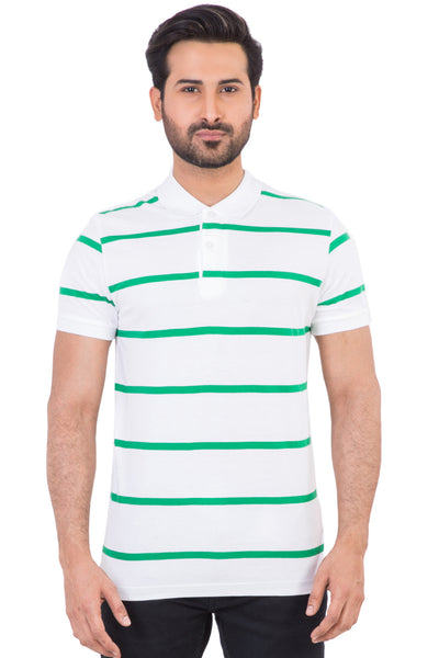 Vintage Green Yarn Dyed Polo SJP-YD-D45