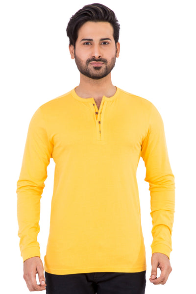 Yellow Basic Henley HEN-URB-06
