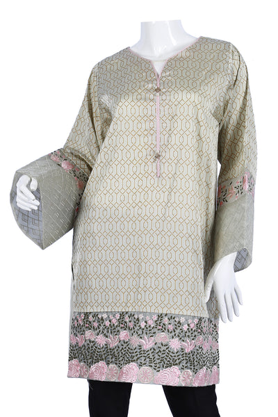 Light Green Organza Embroidered Shirt GLAMOUR-16-48