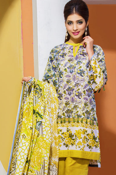 Green 3 Pc Printed Lawn Dress CL-210 C