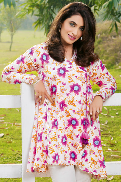 Pink 2 Pc Embroidered Lawn Dress TL-63 A