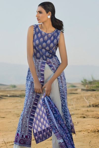Blue 2 Pc Printed Lawn TL-88 B