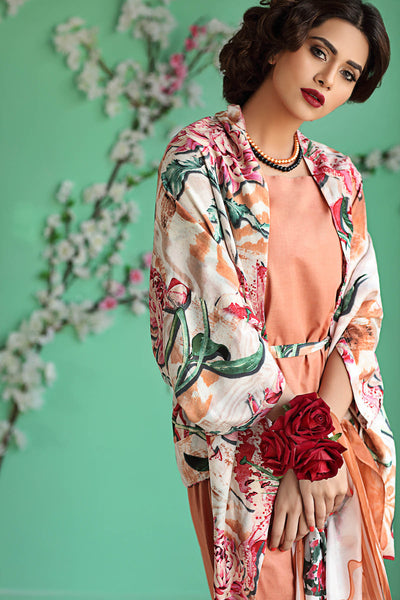 Peach 3 Pc Bamboo Silk Dress BS-08