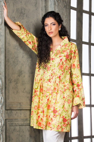 Light Green 1 Pc Printed Lawn Single SL-337 A